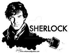 Sherlock Benedict Cumberbatch Illustration by whatwouldjoshdo
