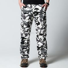 Find More Casual Pants Information about Spring 2015 Casual Mens Cargo Tactical Pants Slim Straight Cotton Man Outdoor Snow Camouflage Military Trousers Plus Size XXXL,High Quality Casual Pants from Amazing Excellent on Aliexpress.com