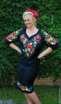 """Купить Женская блуза вышиванка """"Вдохновение"""" ручная вышивка гладью - чёрный, блуза, женская блуза"""