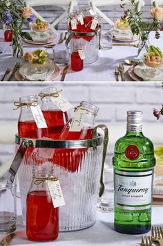 For the ultimate personalised drink, pre-batch sharing cocktails with your guests names on, and let them help themselves to pre-bottled Tanqueray Gin Strawberry Negronis. Serve in chilled ice-buckets with king prawn cocktails. Follow the link for recipe & method. #Ad #PersonalGesture #KingPrawnCocktail #WeddingIdeas #BottledCocktails #WeddingInspiration #CocktailsAndCanapes #WeddingCocktails #PreDinnerDrink #StrawberryNegronis #GinCocktails #PersonalisedCocktails #WelcomeDrinks… Cocktails And Canapes, Cocktail Recipes, Prawn Cocktail, Ice Buckets, Dry Gin, Baileys, Improve Yourself, Strawberry, Island