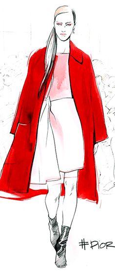 ~Megan Hess Illustration - Dior - New York Fashion Week | House of Beccaria#