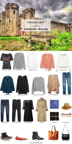What to Pack for 14 Days in Cardiff, Wales Packing Light List