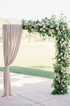 21 Ballet-Inspired Wedding Details for Your Inner Ballerina - romantic wedding ceremony arch - greenery, floral and fabric-draped arch Rare Sparrow Floral Design Wedding Ceremony Arch, Wedding Altars, Wedding Bride, Gold Wedding, Wedding Ceremonies, Wedding Aisles, Backdrop Wedding, Outdoor Wedding Arches, Wedding Table