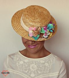 como hacerse un sombrero de boda con flores - Buscar con Google