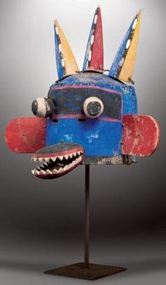 PAYUKALA - Masque aux trois cornes, Three-horned kachina. Pahi-Ala