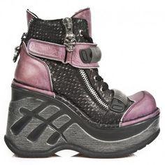 Chaussures Neo Cuña Sport Roses et Serpent Noir M.SP0002-C2