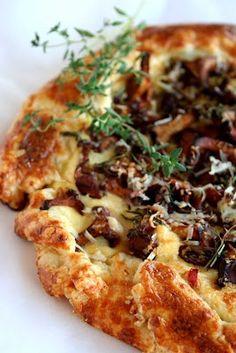 Mushroom Ricotta Tart,  Mushrooms are always good :)l