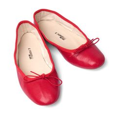 Red Leather Ballet Flats from Porselli   Hand made especially for Pierotucci