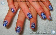 """Christmas Nails ~ Holiday Nails ~ Winter Nails ~ Shellac """"Purple Purple"""" ~ Stamping Art"""