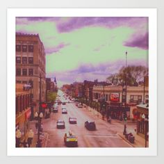 Lakeview / Chicago / Illinois / Belmont Avenue / 2012 / Art print on sale @ society6.com