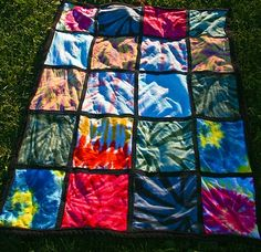 Tie Dye Quilt - would be great to do with t-shirts that we've made over the years that no longer fit the kids  :)
