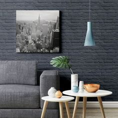 painted brick wallpaper painted brick shiny blue wallpaper painted brick effect wallpaper Black Brick Wallpaper, Brick Effect Wallpaper, Of Wallpaper, Brick Interior, Interior Walls, Brick Feature Wall, Painted Brick Walls, Home Office, Brick Design