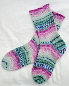 Ravelry: fionacupcake's Birthday socks.  a basic sock in Opal Sweet & Spicy