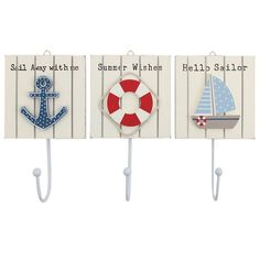 Nautical Hook Plaques - Something Different Wholesale