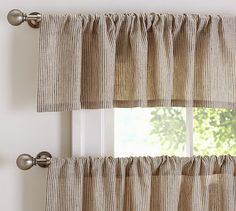 Conrad Stripe Cafe Curtain Potterybarn Home Pinterest Products Curtains And Stripes