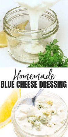 Vegan Blue Cheese Dressing Recipe, Blue Cheese Recipes, Blue Cheese Salad, Real Food Recipes, Yummy Recipes, Cooking Recipes, Yummy Food, Salad Recipes Low Carb, Avocado Recipes