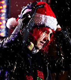 Gerard Way as Santa.. umm I want this for Christmas.
