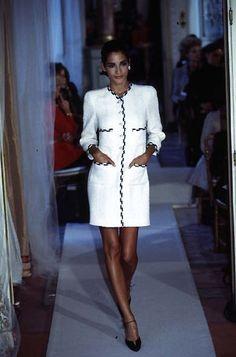 Vestido chanel blanca la mercedes