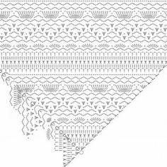 Beautiful yarn shawl with gradient 2 Crochet Cape, Crochet Scarves, Crochet Clothes, Crochet Shawl Diagram, Crochet Motif, Doily Patterns, Crochet Patterns, Finger Crochet, Crochet World