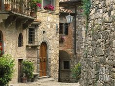 Tuscan Stone Houses Photographic Print by William Manning at Art.com