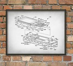 USB Stick Flash Drive Schematic Diagram Wall Art by QuantumPrints
