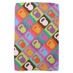 Kettlebell Retro Pattern - Towel