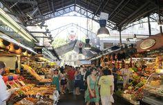 Customers Inside The Boqueria Market