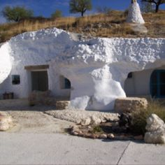 Amazing cave house in Spain we stayed in.