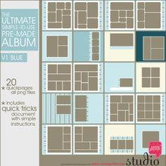 THE ULTIMATE ALBUM V1 quick premade pages for digital