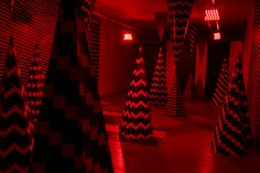 Colorful Lights Produce Illusion of Cave Movement - My Modern Met