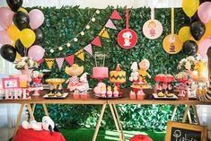 Snoopy Birthday, Snoopy Party, Fall Birthday, Minnie Birthday, First Birthday Parties, 2nd Birthday, First Birthdays, Pjmask Party, Baby Party