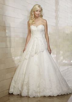 From dresseek fall 2014 wedding dresses collection, this Lace and Organza over…