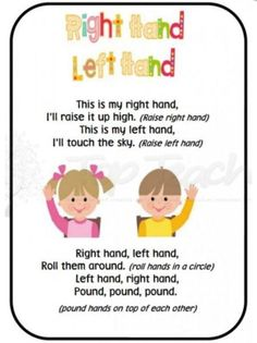 Preschool fingerplay songs and stories help children develop gross & fine motor skills, improve memory, and gain social skills. Best of all, they are FUN! Kindergarten Songs, Preschool Music, Preschool Classroom, Preschool Activities, Preschool Transitions, Fingerplays For Preschoolers, Kindergarten Circle Time, Opposites Preschool, Family Activities