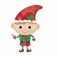 Christmas Elf Foil Balloon $22.95 (Inflated) U29397