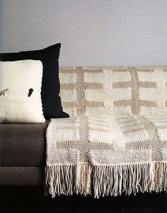 Intarsia Blanket pattern by Ruth Cross