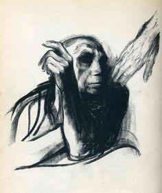 """Käthe Kollwitz, Appel de la Mort. Feuillet 8 de la série """"Mort"""", 1937…"""