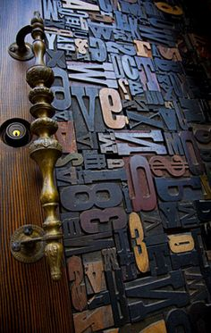 what a wonderful use for all those pieces of typeset I always see at antique malls...and never knew how to use
