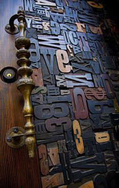 Photo of their AMAZING front door (from their website) Knobs And Knockers, Door Knobs, Door Handles, Cool Doors, Unique Doors, When One Door Closes, Type Setting, Letters And Numbers, Doorway
