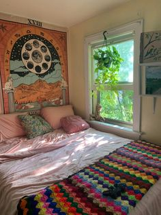 My attic bedroom in a Victorian Era House, Iowa City, Iowa : AmateurRoomPorn - Rees Home Decor Indie Room Decor, Boho Bedroom Decor, Cute Room Decor, Aesthetic Room Decor, Room Ideas Bedroom, Design Bedroom, Bedroom Inspo, Bedroom Vintage, Indie Dorm Room