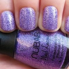 Light purple sparkle nail polish perfect as a wedding favour for the girls