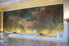 Dream Garden, Philadelphia by Louis C Tiffany, based on drawing by Maxfield Parrish, in the Lobby of  The Curtis Center since 1916