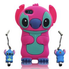 3D Stitch  Lilo ipod touch 5 Hot-Pink Soft Silicone Case Cover With 3D Stitch Stylus Pen For itouch 5g 5th Generation by Disney. Save 80 Off!. $7.98. New 3D Soft Silicon Case . Easy to attach and detach. Full body protection. The protector covers the back,left and right side. Allows access to camera  all port,smart design allows total accessing to all functions and buttons without removing your ipod from the protector case.