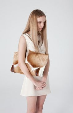 Prey, oversized Springbok clutch. Centre - Spring/ Summer collection 2011 by Karla Spetic.