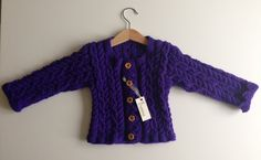 Girls Cable Knit Jacket by BunnieKnitwear on Etsy