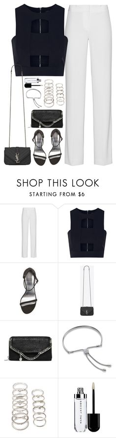 """""""Untitled#4330"""" by fashionnfacts ❤ liked on Polyvore featuring DKNY, Cushnie Et Ochs, Stuart Weitzman, Yves Saint Laurent, STELLA McCARTNEY, Monica Vinader and Forever 21"""