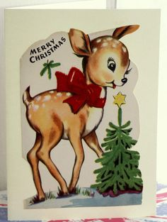 Christmas card Made from a vintage Illustration