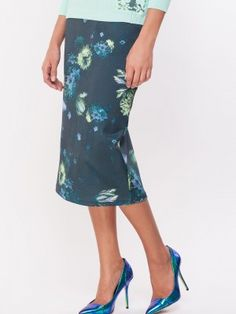 Glamorous Multi Print Pencil Midi Skirt purchase from koovs ...