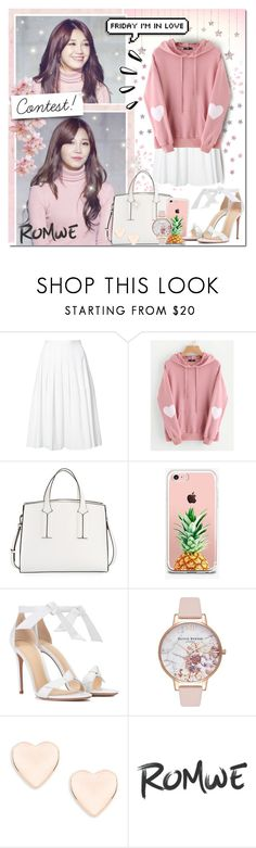 """Sparkling APink Hearts [Contest]"" by angelstylee ❤ liked on Polyvore featuring Vince, Old Navy, French Connection, The Casery, Alexandre Birman, Olivia Burton and Ted Baker"