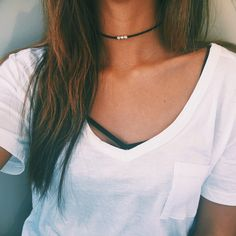 """- simple antique silver tibetan triple beads - 12""""-14"""" length, faux leather choker - antique silver layered - perfect, simple look, summer favorite! Check out our gold triple bead: http://stargazejewe"""