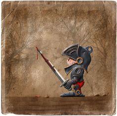 The dark painter...